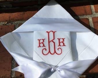Monogrammed Linen Napkin Set