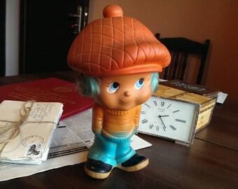 Vintage Soviet Rubber Toy, Old Rubber Doll Boy, Collectible USSR Toy, Old Soviet Rubber Toy from 1970s