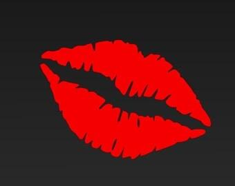 Lips Decal