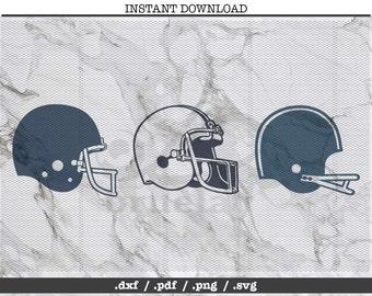 football helmet cut file,  SVG, DXF, PNG, Cricut, Silhouette, cutting machine, clipart, screen print, vector graphic, adobe illustrator,nil