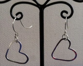 Small Heart Earrings Sterling Silver