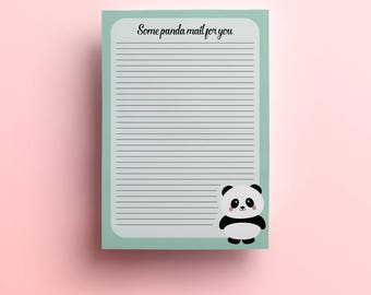 A5 panda Letter paper, pad, notepad, letter writing, stationery, writing pad, letter paper, letter stationary, memopad