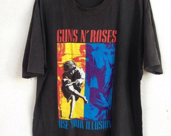 Rare vintage Guns N' Roses use your illusion 90s band tshirt XL