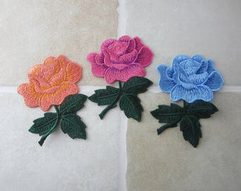 Embroidery Patches - Floral Appliques