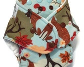 SALE* Fox Forest Friends | Hybrid Fitted | Diaper | One Size | OS | FDR | Zorb