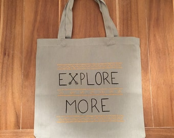 Explore More Medium Canvas Tote Bag