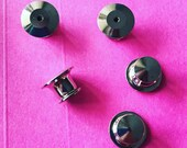 Deluxe locking pin back / Lock-in clutch / Lock in pin back / Locking pin back / Extra pin clutches