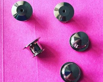 Deluxe locking pin back / Lock-in clutch / Lock in pin back / Locking pin back / Extra pin clutches