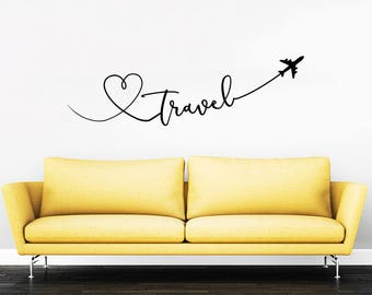 Travel Say Quote Travel Wall Decal Vinyl Stickers Decals Home Decor Love  Planes Decals Vinyl Lettering
