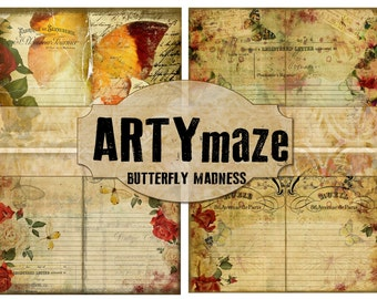 BUTTERFLY Madness Journal Kit INSTANT DOWNLOAD
