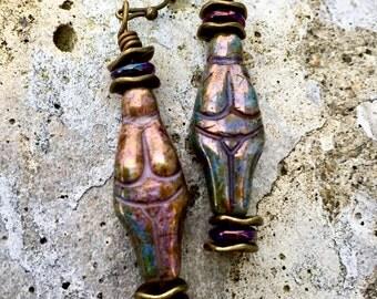 Boho Earrings, Hippie Earrings, Goddess Earrings, Dangle Earrings, Earrings