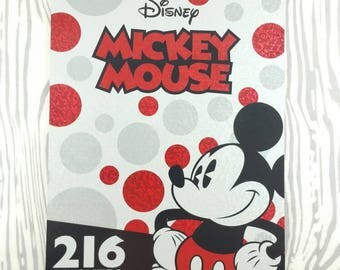 Mickey Mouse Sticker Book, Vintage style. Over 200 stickers! Early Micky Mouse Minnie Goofy Pluto Donald Daisy Duck