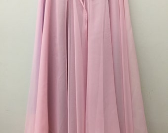 Knee Length Chiffon Ballet Skirt in Primrose  (Back View, Hook and Eye Closure)