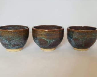 Handmade Pottery Bowls - Set of 3