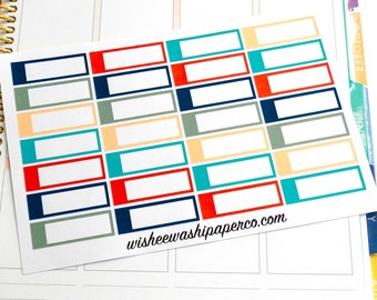 Utility Boxes - Nautical Colors - Appointment Boxes - To Go Stickers - To Do Stickers - Planner Stickers