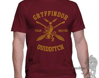 BEATER - Gryffin Quidditch team Beater on MEN tee