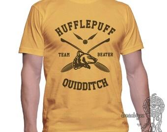 BEATER - Huffle Quidditch team Beater on MEN tee Gold