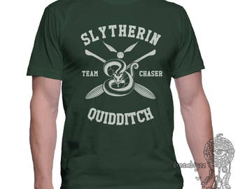 CHASER - Slytherin Quidditch team Chaser on MEN tee