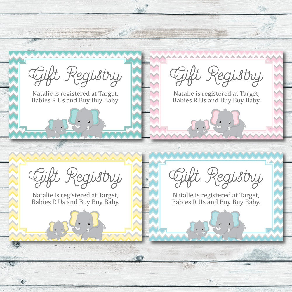 Target Wedding Registry Gift Card: Baby Registry Cards Registry Inserts Baby Shower Gift
