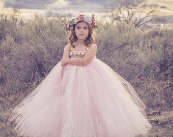 Flower Girl Tutu Dress, Girls Tutu Dress, Pom Pom Tutu Dress, Birthday Tutu Dress, Photo Prop Tutu, Wedding Tutu Dress, Couture Tutu Dress