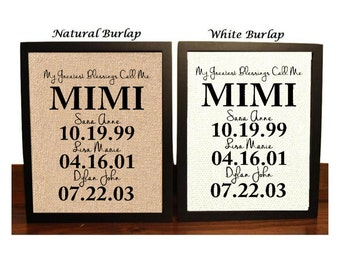 Christmas Gift for Mimi, Personalized Gift for Mimi, Christmas Gift Idea, My Greatest Blessings Call Me Mimi, Family Date Sign