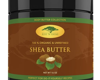 16 oz Raw Shea Butter - Perfect for All Your DIY Home Recipes Like Soap Making, Lotion, Shampoo, Lip Balm and Hand Cream