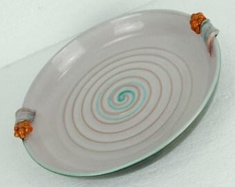ceramic fruit bowl 30s martha katzer karlsruher majolika no. 389