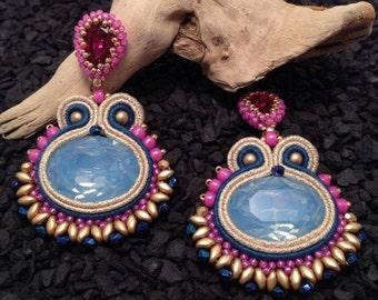 """Soutache earrings """"Incas"""""""