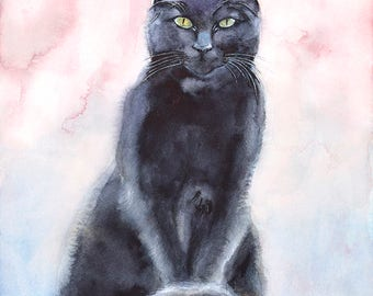 Cat No9 family water color