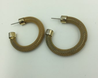 Silver Tone Post Gold Tone Mesh Post Earrings    BUY 3 Get 1 FREE