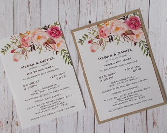 Vintage Blush Invitation SAMPLE