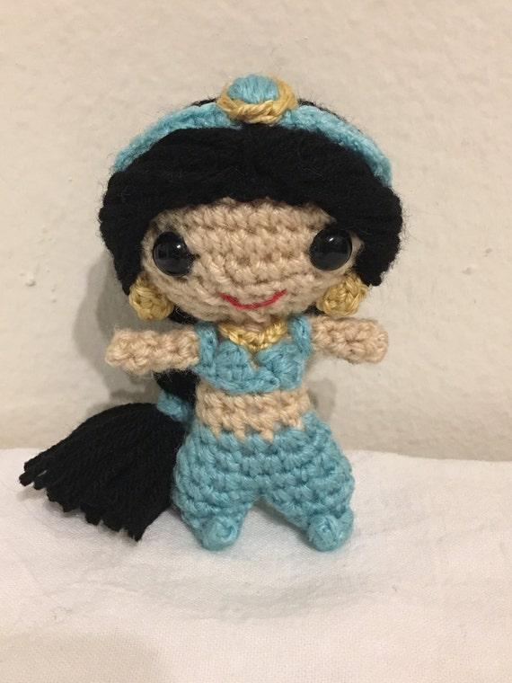 Amigurumi Join : Items similar to Princess Jasmine crochet, amigurumi ...