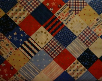 Americana: Country Patchwork; sold by the yard