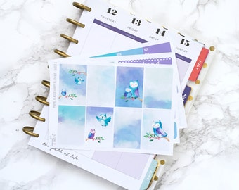 Final Sale // MATTE Classic HP Sweet Owls Planner Sticker Kit - For Classic Happy Planners