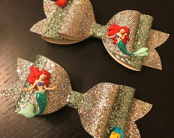 Little Mermaid Bow Headband/Clip