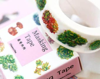 Succulent Washi Tape
