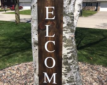 Welcome Sign |Welcome Porch Sign | Front Door Welcome Sign | Denneystudio