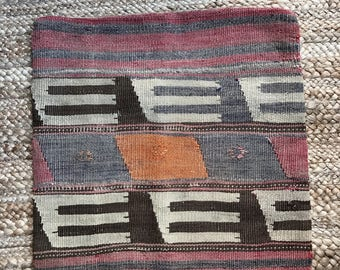 17 x 17 Vintage Turkish Kilim Pillow