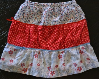 Girls Skirt, Size 5, Hand Made, Elastic Waist