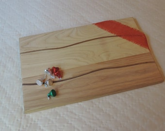Cutting board, wood cutting board, serving tray, chopping block, inlay cutting board, wooden cutting board,