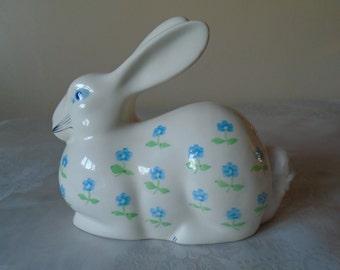 porcelain bunny  cotton wool ball dispenser