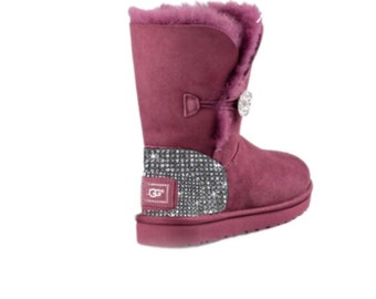 UGG Bailey BlingButton Swarovski Bling Boot - Bougainvillea