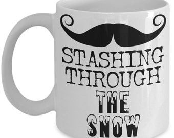 Funny Mustache Coffee Mug Gifts - I Mustache You To Go Away