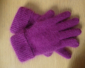Glove in angora 100% made in France