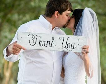 Thank You Wood Sign - Wedding Prop Sign - Wood Prop Sign - Rustic Thank You Sign - Shabby Chic Thank You Sign - Thank You Sign