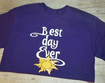 Tangled Best Day Ever Tshirt Youth