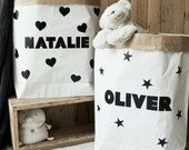 SALE  Small personalised paper storage bag for toys books blankets teddies and much more  55x50x13cm  Paper Toy Bag