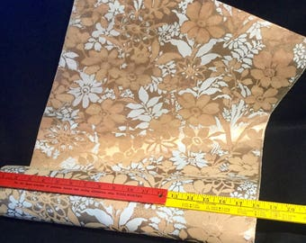 Flocked Metallic Wallpaper!! The real deal from the 1970's Vintage, Retro and too cool