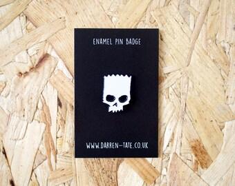 Bart Zero Enamel Pin • enamel pin - simpsons pin - skull pin