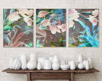 Art Prints Floral Prints Abstract Art Prints Art Large Art Print Flower Art Print Abstract Print Set Floral Wall Art Botanical Print